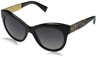 Dolce & Gabbana Women's Mosaico Collection Polarized Round Sunglasses