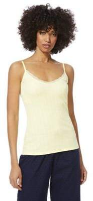 F&F Lace Trim Rib Knit Lounge Cami Top 16-18