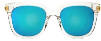 Women's Gentle Monster Absente 54Mm Sunglasses - Clear/ Blue $255 thestylecure.com