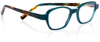 Eyebobs Haute Flash Square Two-Tone Readers, Blue/Tortoise