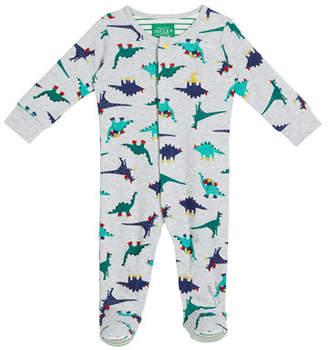Joules Cartoon Dino-Print Footie Pajamas, Size 0-12 Months