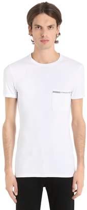 Versace Underwear Essential Stretch Cotton Jersey T-Shirt