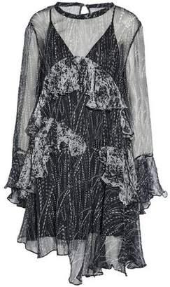 IRO Ruffled Printed Chiffon Mini Dress