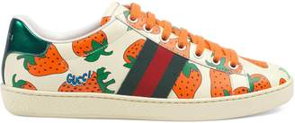 Gucci Women's Ace sneaker with Strawberry print