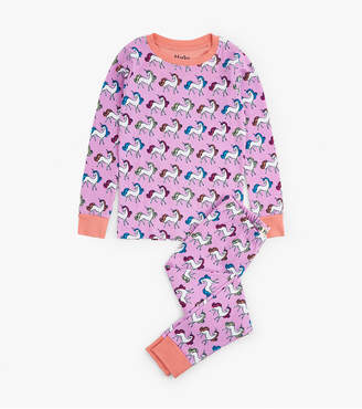 Hatley Rainbow Unicorns Organic Cotton Pajama Set