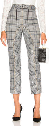 Self-Portrait Self Portrait Check Zip Front Trouser Pant