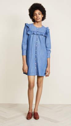 Madewell Ruffle Sleeve Denim Shirtdress