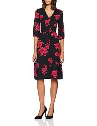 Dorothy Perkins Women's Floral Midi Party Dress (Black 130), (Size:)