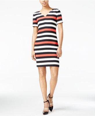 Armani Exchange Striped V-Neck Dress $150 thestylecure.com