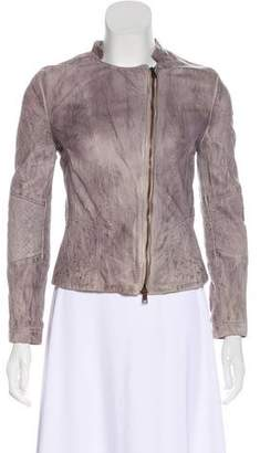 Barneys New York Barney's New York Leather Casual Jacket