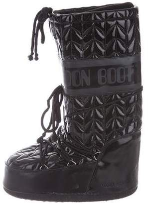 Moon Boot Quilted Vinyl Knee-High Boots