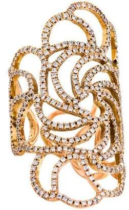 Ileana Makri 18K Diamond Lace Cocktail Ring