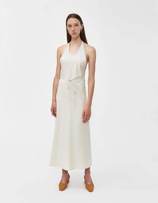 Base Range Baserange Silk Apron Dress in Off White
