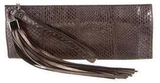Chanel Python Tassel Clutch