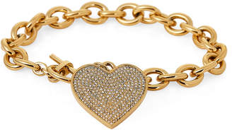 Michael Kors Gold-Tone Heart Charm Bracelet
