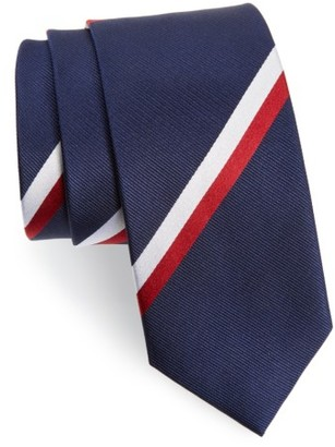 Men's The Tie Bar Ad Stripe Silk Tie $19 thestylecure.com