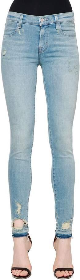 Enge Jeans Aus Denim Im Destroyed-Look