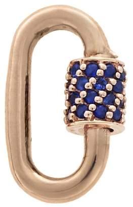 Marla Aaron Sapphire Stone Baby Lock - Rose Gold