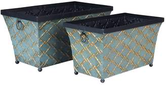 Household Essentials 2-piece Link Metal Storage Bin Set