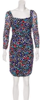 Diane von Furstenberg Silk Ruched Dress
