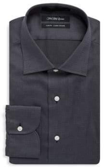 Saks Fifth Avenue Basketweave Cotton Dress Shirt