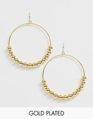 Gorjana Gold Plated Newport Large Drop Hoops