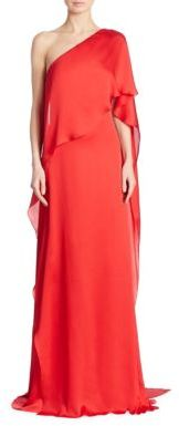 Ralph Lauren Collection Constance One-Shoulder Mulberry Silk Gown $3,590 thestylecure.com