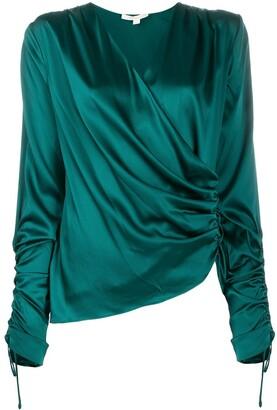 Jonathan Simkhai wrap silk blouse