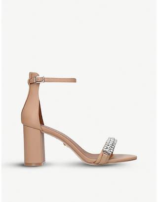 6ec1c4a4c2a060 at Selfridges · Kurt Geiger London Queenie embellished leather two-part  sandals
