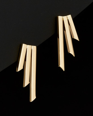 Italian Gold 14K Graduated Triple Bar Earrings