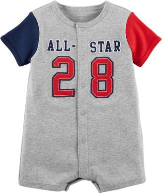 "Carter's Baby Boy All-Star 28"" Snap-Up Romper"