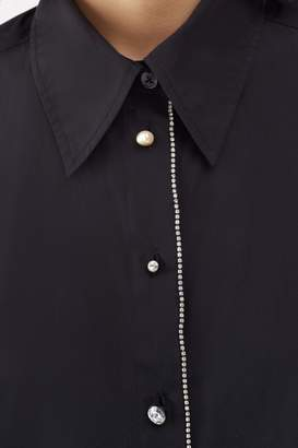 3.1 Phillip Lim Gathered-Sleeve Button-Down Shirt
