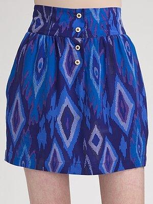 Myne Printed Silk Skirt