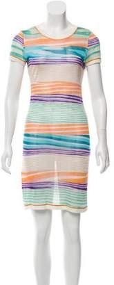 Missoni Striped Semi-Sheer Dress
