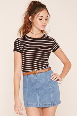 FOREVER 21+ Striped Knit Tee $24.90 thestylecure.com