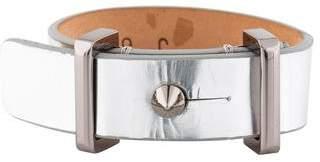 Barbara Bui Stud Metallic Leather Bracelet