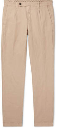 Massimo Alba Pleated Linen And Cotton-blend Trousers - Sand