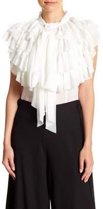 Gracia Sheer Ribbon Tie Sleeveless Top
