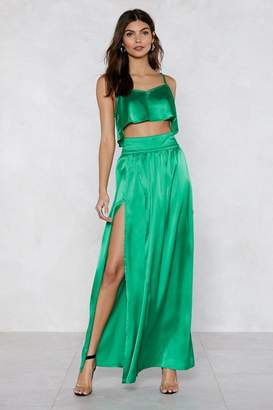 Nasty Gal Give Us Your Two Cents Crop Top and Maxi Skirt
