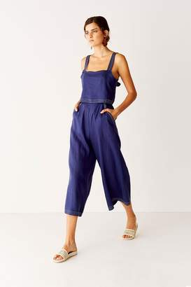 Suboo Cropped Jumpsuit - Navy