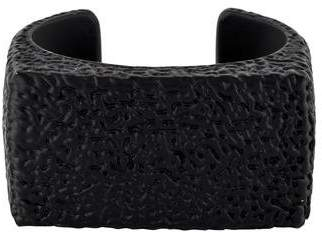 MM6 MAISON MARGIELA Oversized Black Hammered Cuff
