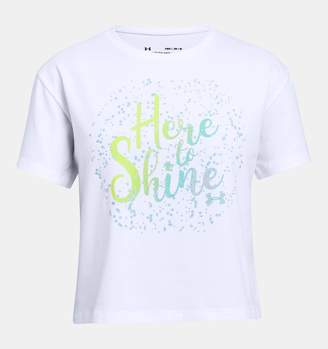 Under Armour Girls' UA Here To Shine T-Shirt