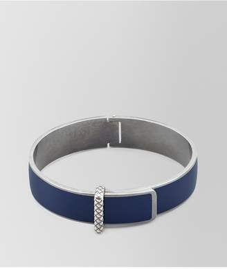 Bottega Veneta Atlantic Oxidized Silver/Enamel Bracelet