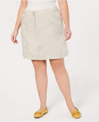 Karen Scott Plus Size A-Line Skort, Created for Macy's