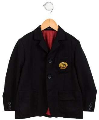 Burberry Boys' Wool Appliqué-Accented Blazer
