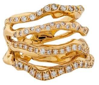Lucifer Vir Honestus 18K Corteccia Diamond Ring
