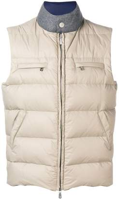 Eleventy zipped padded vest