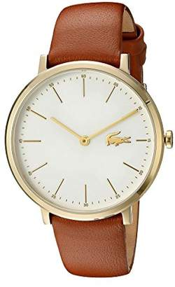 Lacoste Women's Quartz Gold-Tone and Leather Casual Watch