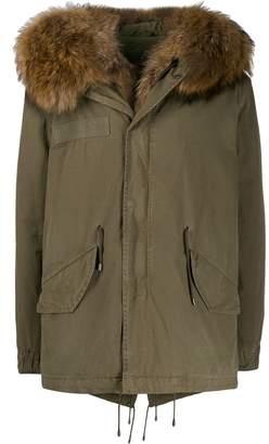 Mr & Mrs Italy contrasting collar short-length jacket