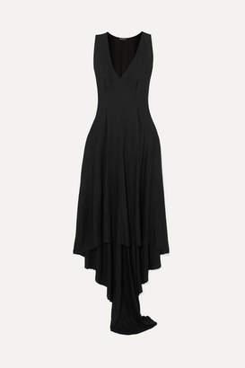 Ann Demeulemeester Draped Jersey Dress - Black